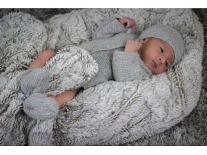 Cardigan en cachemire pour bébé. Bulle de Velours
