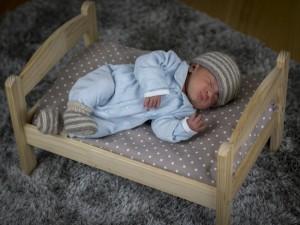Bulle Bicolore Layette en cachemire pour bébé.