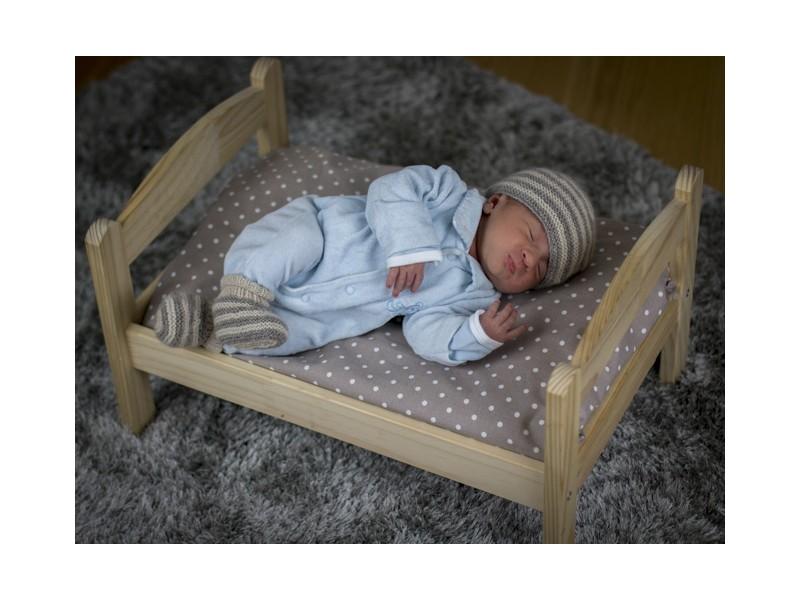 6bda5b4e49f6d Layette en cachemire pour bébé. Bulle Bicolore   Bonnet cachemire tricoté main pour bébé ...